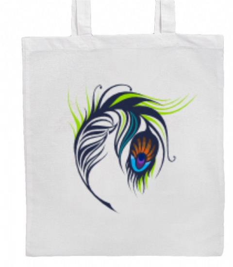 Peacock Feather Shoulder Bag